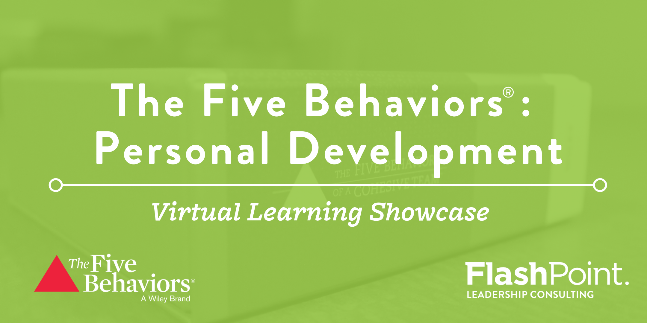 The Five Behaviors Personal Development Virtual Showcase