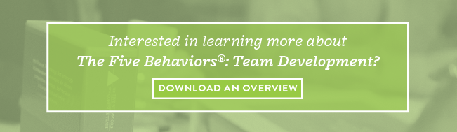 The Five Behaviors Team Development Overview